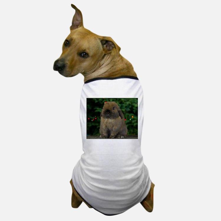 Christmas Bunny Dog T-Shirt