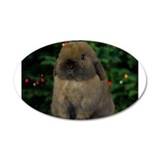 Christmas Bunny Wall Decal