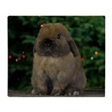 Holland lop rabbit Fleece Blankets