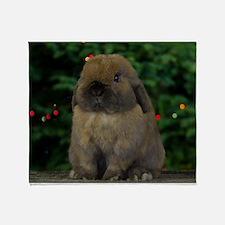 Christmas Bunny Throw Blanket