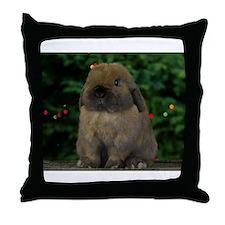 Christmas Bunny Throw Pillow