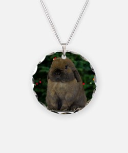Christmas Bunny Necklace