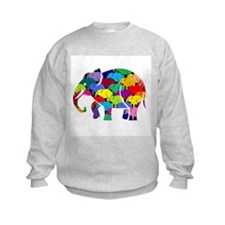 Elephants on Parade Sweatshirt