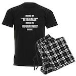 Literally Figuratively Men's Dark Pajamas