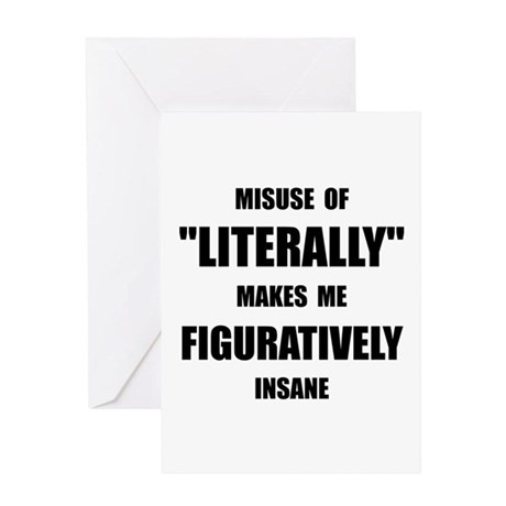 Literally Figuratively Greeting Card