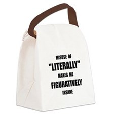 Literally Figuratively Canvas Lunch Bag