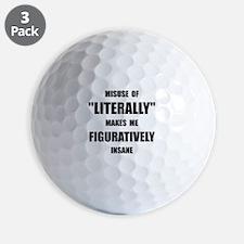 Literally Figuratively Golf Ball