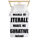 Literally Figuratively Twin Duvet