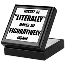 Literally Figuratively Keepsake Box