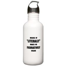 Literally Figuratively Water Bottle