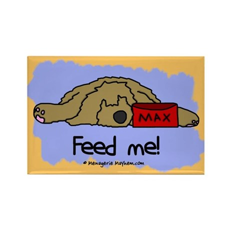 Feed Me Otterhound Rectangle Magnet