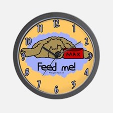 Feed Me Otterhound Clock (Cartoon)