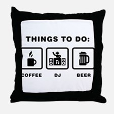 Disc Jockey Throw Pillow