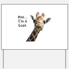 Moo Giraffe Goat Yard Sign