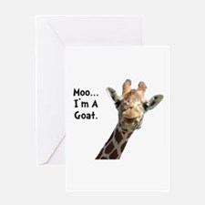 Moo Giraffe Goat Greeting Card