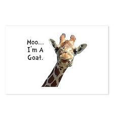 Moo Giraffe Goat Postcards (Package of 8)
