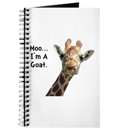 Moo Giraffe Goat Journal