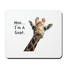 Moo Giraffe Goat Mousepad