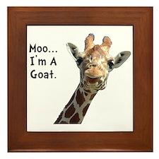 Moo Giraffe Goat Framed Tile