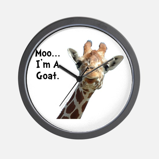 Moo Giraffe Goat Wall Clock