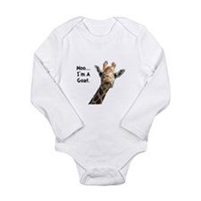 Moo Giraffe Goat Long Sleeve Infant Bodysuit