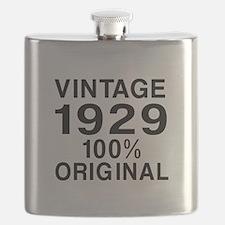 Vintage 1929 Birthday Designs Flask