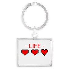 Life Hearts Landscape Keychain
