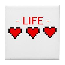 Life Hearts Tile Coaster