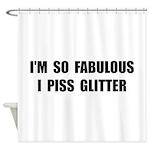Piss Glitter Shower Curtain