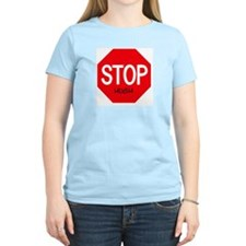 Stop Hugh Women's Pink T-Shirt