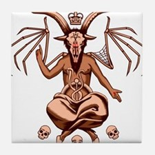 Baphomet Graphic Tile Coaster