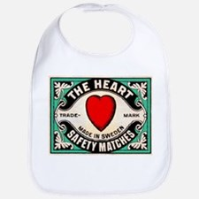 Antique Swedish Heart Matchbox Label Bib