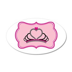 Princess / Queen Crown 35x21 Oval Wall Decal