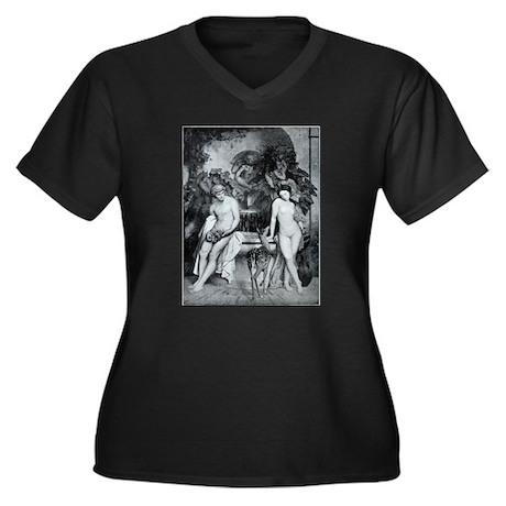 42.png Women's Plus Size V-Neck Dark T-Shirt