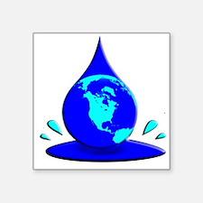 "Earths Water Supply is Dwindling Square Sticker 3"""