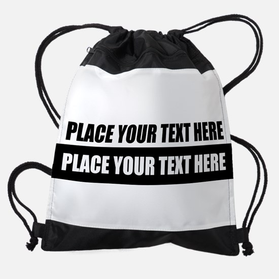 Text message Customized Drawstring Bag