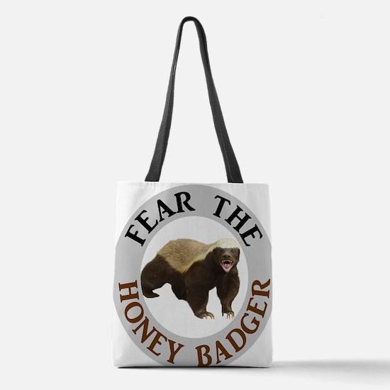 Honey Badger Fear Polyester Tote Bag