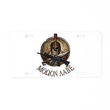 Molon Labe Spartan w Carbine license plate