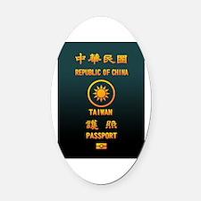 PASSPORT(TAIWAN) Oval Car Magnet