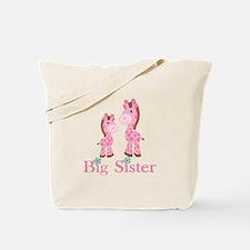 Big Sister Pink Giraffe Tote Bag