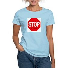 Stop Ethen Women's Pink T-Shirt