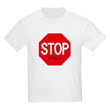 Stop Ethen Kids T-Shirt