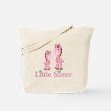 Little Sister Pink Giraffe Tote Bag