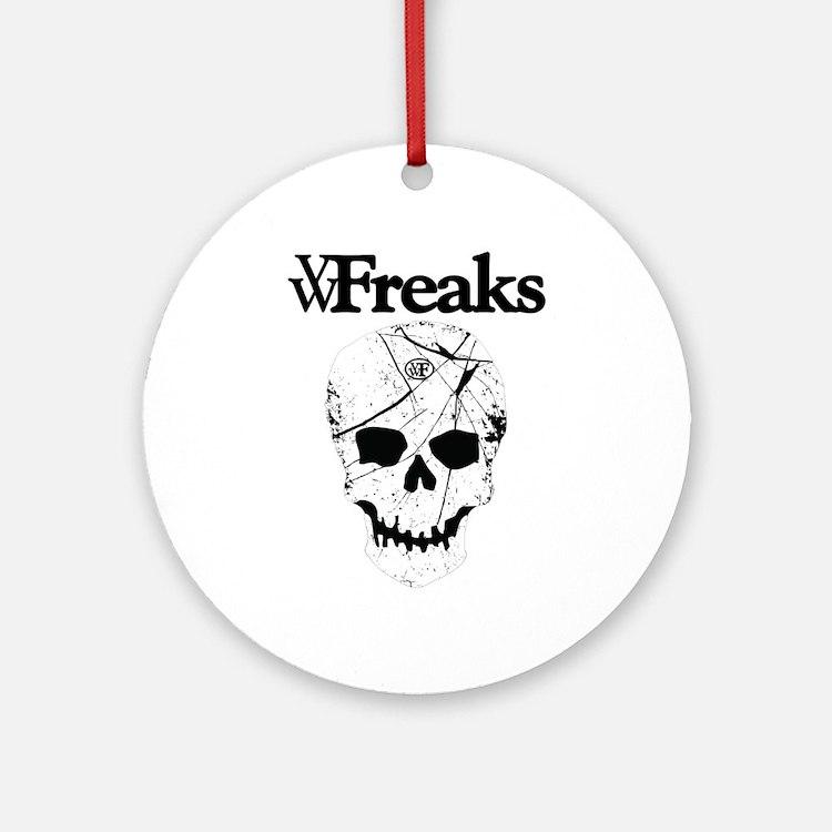 Das VW-Freaks Mascot - Branded Skull Ornament (Rou