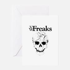 Das VW-Freaks Mascot - Branded Skull Greeting Card
