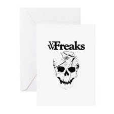 Das VW-Freaks Mascot - Branded Skull Greeting Card