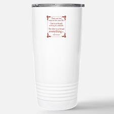Einstein on Miracles Stainless Steel Travel Mug