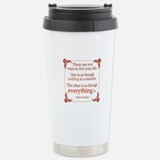 Einstein on Miracles Travel Mug