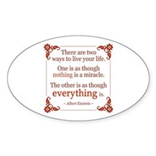 Einstein on Miracles Decal