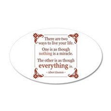 Einstein on Miracles Wall Decal